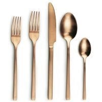 brushed copper cutlery